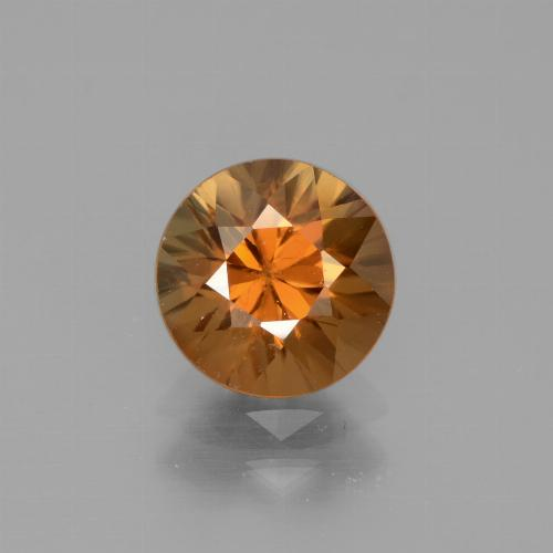 1.9ct Diamond-Cut Earthy Orange Zircon Gem (ID: 442370)