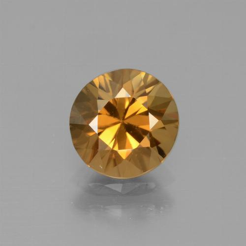 1.9ct Diamond-Cut Deep Orange Zircon Gem (ID: 442372)
