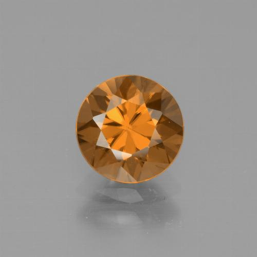 1.8ct Diamond-Cut Medium Orange Zircon Gem (ID: 442373)