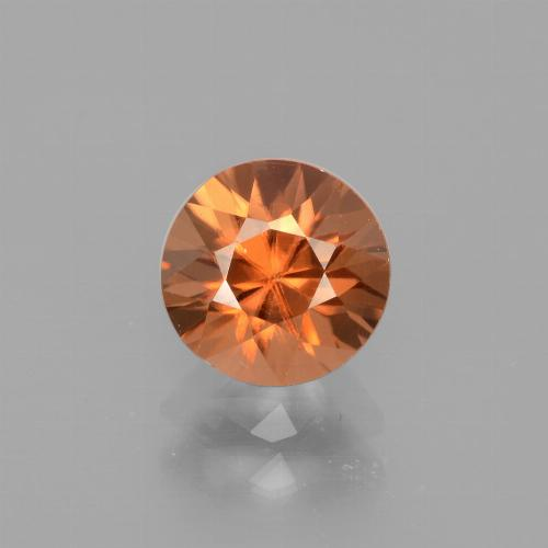 1.8ct Diamond-Cut Deep Reddish Orange Zircon Gem (ID: 442380)