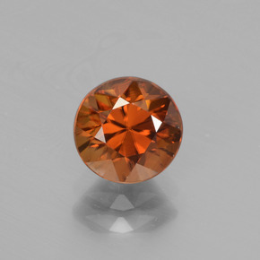 2ct Diamond-Cut Deep Orange Zircon Gem (ID: 442539)