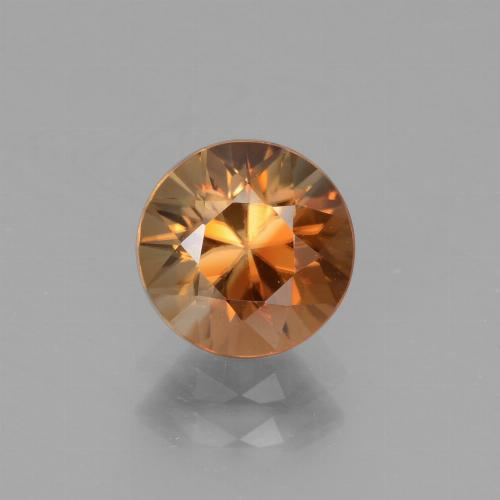 2.1ct Diamond-Cut Brownish Orange Zircon Gem (ID: 442542)