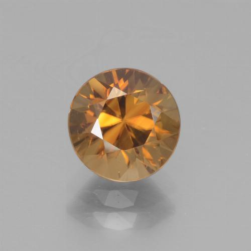 2.4ct Diamond-Cut Medium Orange Zircon Gem (ID: 442545)