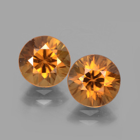Medium Orange Zircon Gem - 2.3ct Diamond-Cut (ID: 442547)