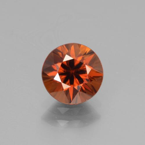 1.8ct Diamond-Cut Deep Orange Zircon Gem (ID: 442549)