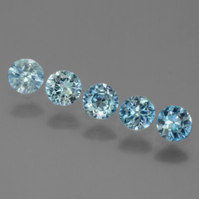 Baby Blue Zircone Gem - 0.5ct Taglio brillante (ID: 444288)