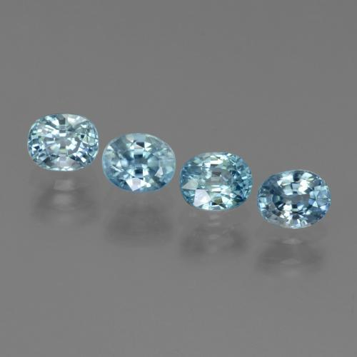 Blue Zircon Gem - 0.7ct Oval Facet (ID: 444601)