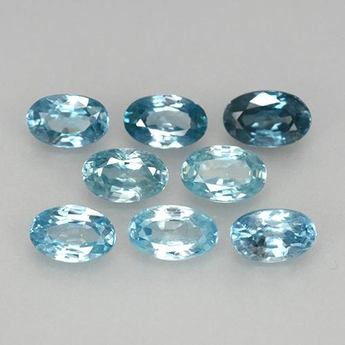 Blue Zircon Gem - 0.3ct Oval Facet (ID: 444871)