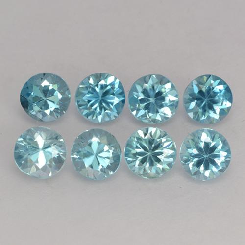Light Greenish Blue Zircon Gem - 0.3ct Diamond-Cut (ID: 444877)