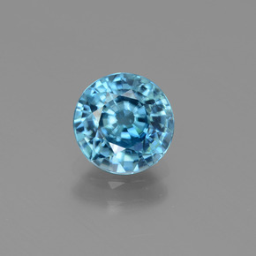 Blue Zircon Gem - 2.1ct Round Facet (ID: 447494)