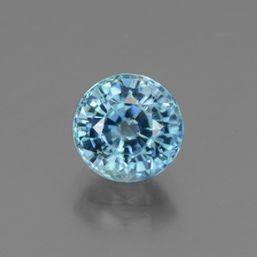Blue Zircon Gem - 2.5ct Round Facet (ID: 447552)