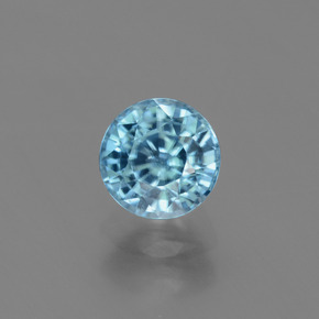 Blue Zircon Gem - 2.2ct Round Facet (ID: 447569)
