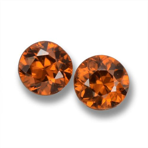Earth Orange Zircon Gem - 0.6ct Diamond-Cut (ID: 460158)