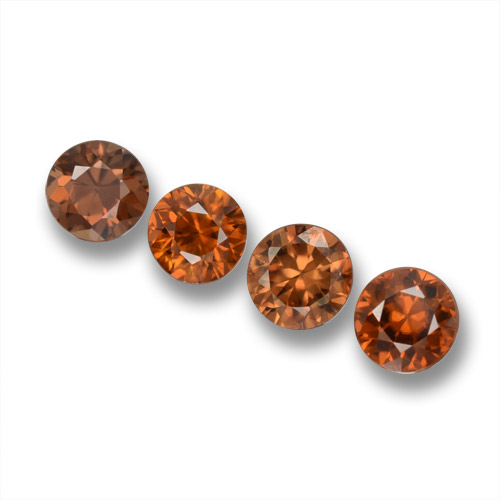 0.6ct Diamond-Cut Deep Orange Zircon Gem (ID: 460279)