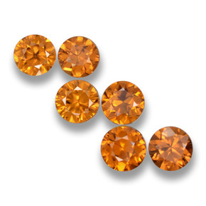 0.6ct Diamond-Cut Orange Brown Zircon Gem (ID: 460407)