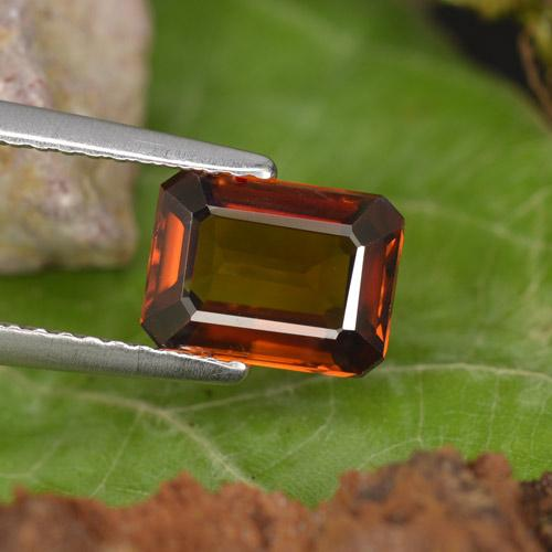 Gingerbread Brown Zircon Gem - 2.2ct Octagon Step Cut (ID: 462919)