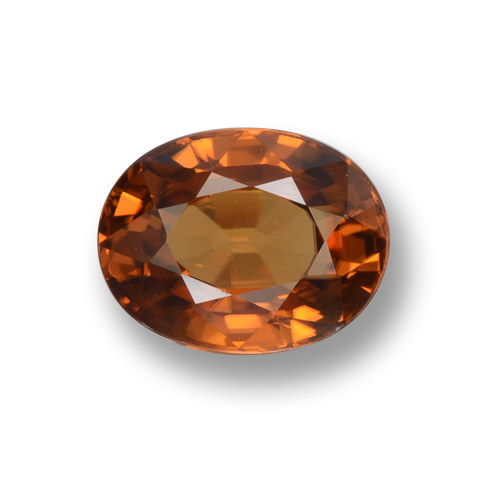 Medium Orange Circón Gema - 2.3ct Forma ovalada (ID: 462928)