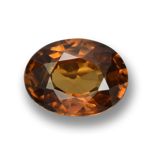 Earth Orange Circón Gema - 1.7ct Forma ovalada (ID: 463141)