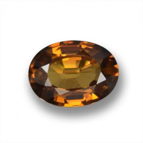 Golden Brown Zircon Gem - 1.6ct Oval Facet (ID: 463145)