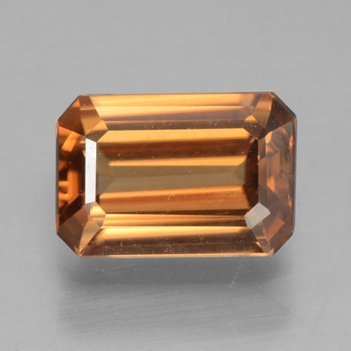 Medium Orange Zircone Gem - 1.2ct Taglio ottagonale (ID: 463261)