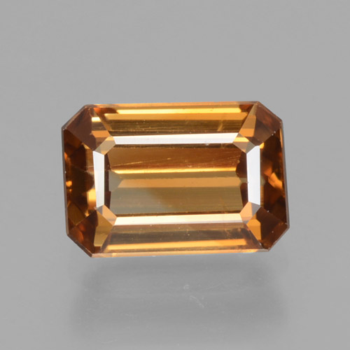 Orange Zircon Gem - 1.6ct Octagon Step Cut (ID: 463293)