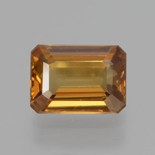 Orange Zircon Gem - 1.4ct Octagon Step Cut (ID: 463294)