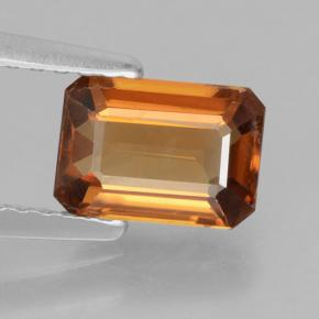 Orange Zircon Gem - 1.5ct Octagon Step Cut (ID: 463367)