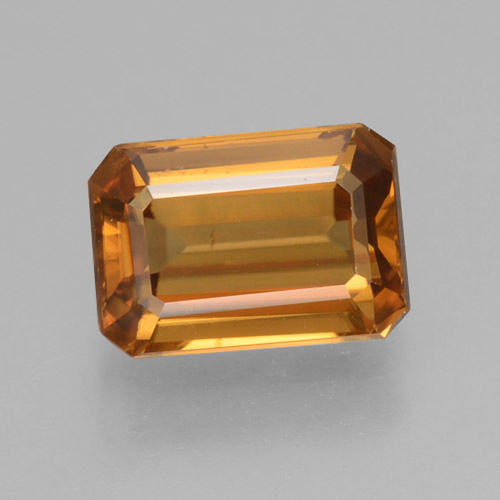 Orange Zircon Gem - 1.4ct Octagon Step Cut (ID: 463371)