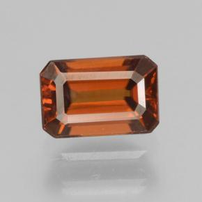 Amber Orange Zircon Gem - 1ct Octagon Step Cut (ID: 463455)