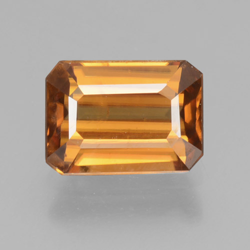 Deep Orange Zircon Gem - 1.7ct Octagon Step Cut (ID: 463458)