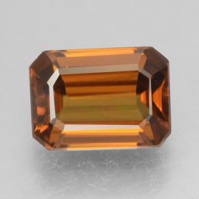 Orange Zircon Gem - 1.6ct Octagon Step Cut (ID: 463474)