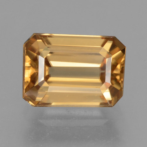 Orange Zircon Gem - 1.6ct Octagon Step Cut (ID: 463480)