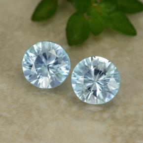 Blue Zircon Gem - 0.6ct Diamond-Cut (ID: 480011)