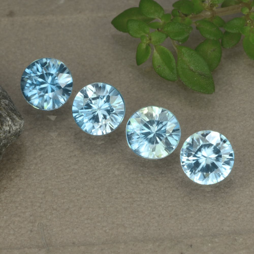 Blue Zircon Gem - 0.5ct Diamond-Cut (ID: 480155)