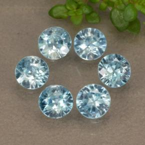 Blue Zircon Gem - 0.3ct Diamond-Cut (ID: 480299)