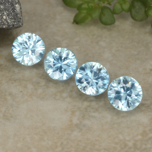 Blue Zircon Gem - 0.4ct Diamond-Cut (ID: 480976)