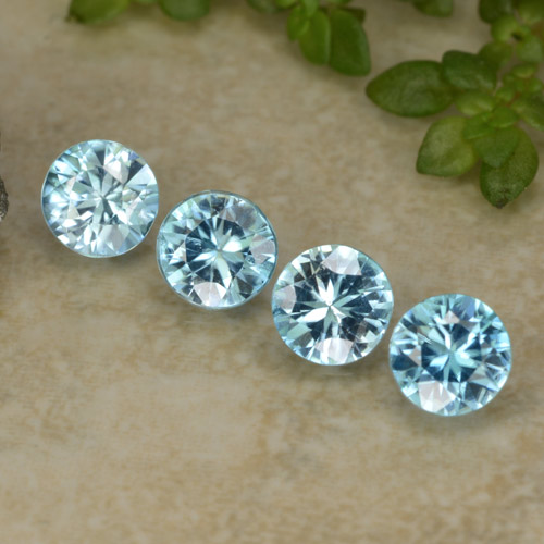Blue Zircon Gem - 0.5ct Diamond-Cut (ID: 480982)