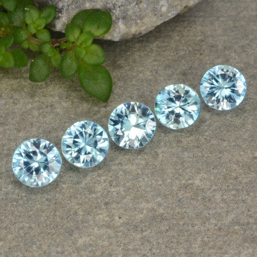 Blue Zircon Gem - 0.5ct Diamond-Cut (ID: 480992)