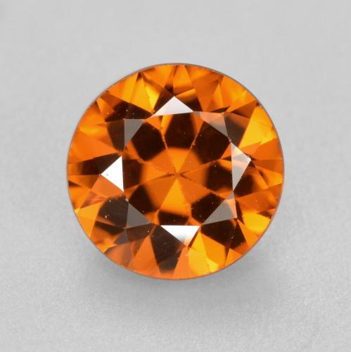1.4ct Diamond-Cut Medium Orange Zircon Gem (ID: 481389)