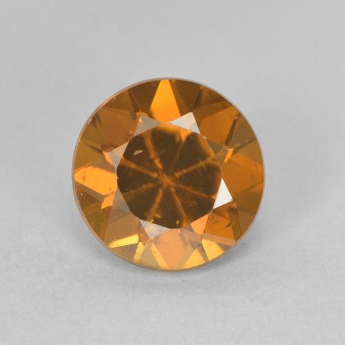 1.7ct Diamond-Cut Medium Orange Zircon Gem (ID: 481391)