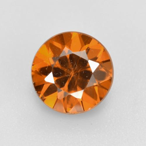 1.6ct Diamond-Cut Medium Orange Zircon Gem (ID: 481392)