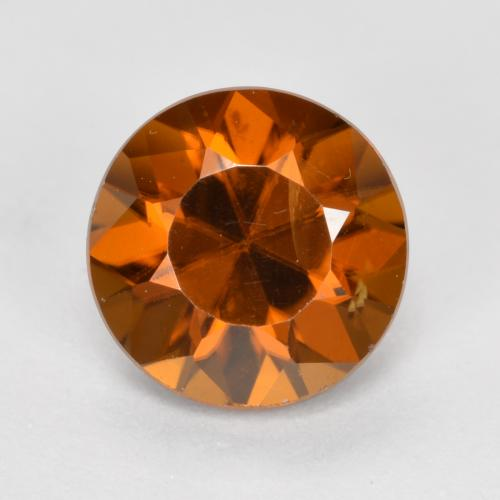 1.7ct Diamond-Cut Earthy Orange Zircon Gem (ID: 481394)