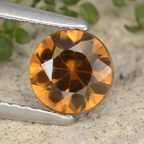 1.5ct Diamond-Cut Medium Orange Zircon Gem (ID: 481395)