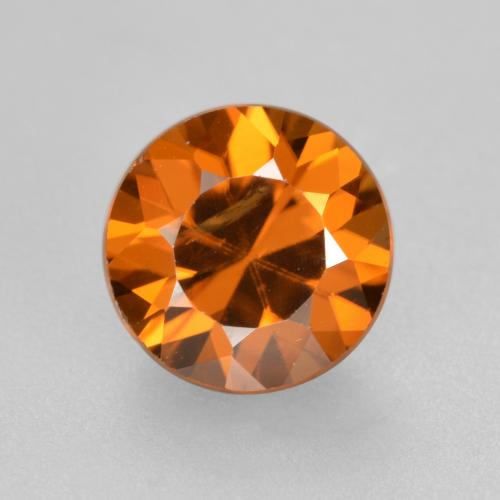 1.8ct Diamond-Cut Orange Brown Zircon Gem (ID: 481396)