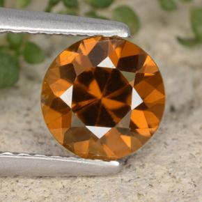 1.6ct Diamond-Cut Dark Orange Zircon Gem (ID: 481397)