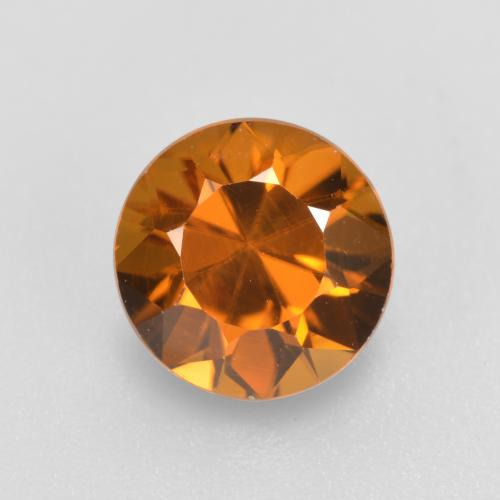 Medium Orange Zircone Gem - 1.6ct Taglio brillante (ID: 481398)