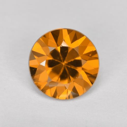 1.5ct Diamond-Cut Deep Orange Zircon Gem (ID: 481399)