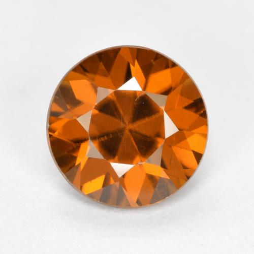 1.5ct Diamond-Cut Deep Orange Zircon Gem (ID: 481400)