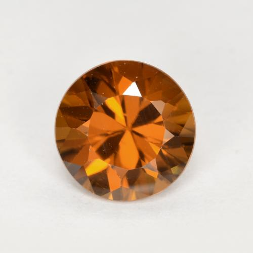 1.5ct Diamond-Cut Dark Orange Zircon Gem (ID: 481424)