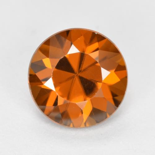 1.6ct Diamond-Cut Dark Orange Zircon Gem (ID: 481425)